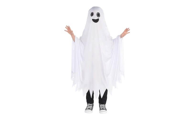 Bambino vestito da fantasma