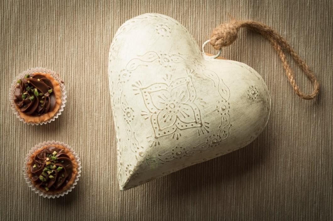 cuore con dolci