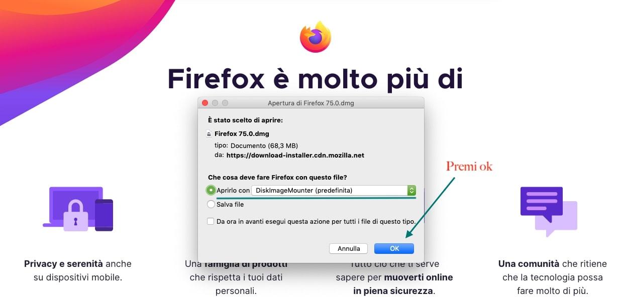 installare firefox mac