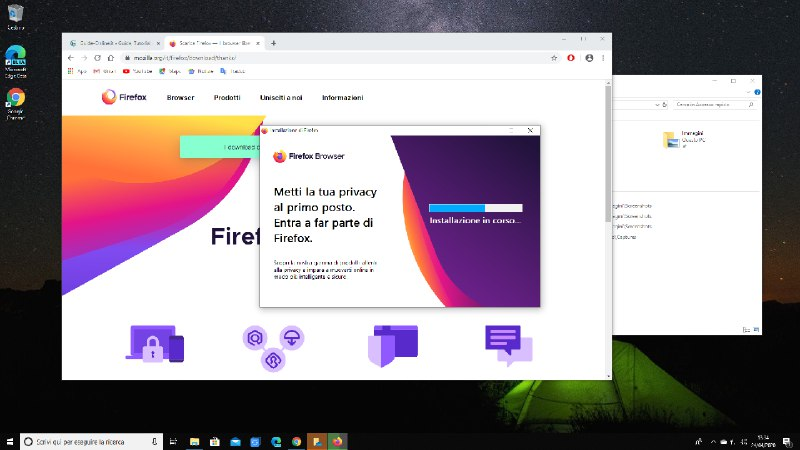 scaricamento browser