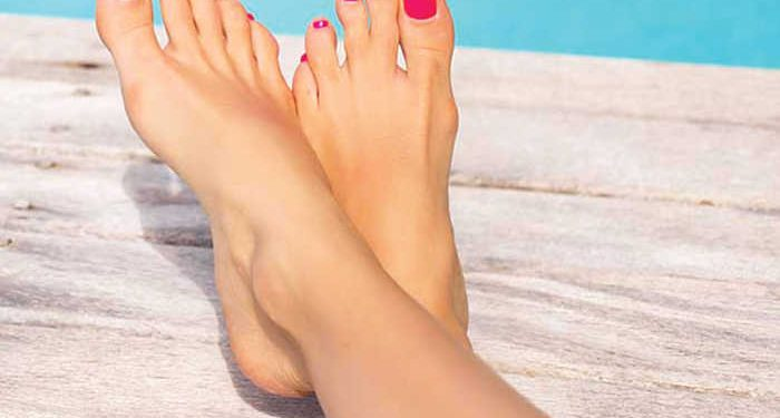 piedi curati piscina