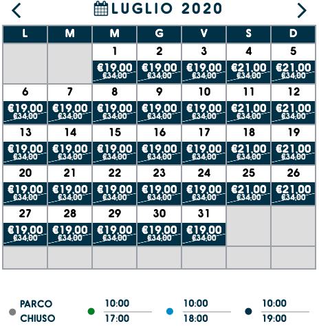 costo biglietto zoomarine luglio 2020