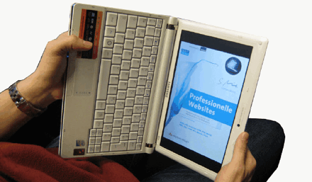 tablet display ruotato