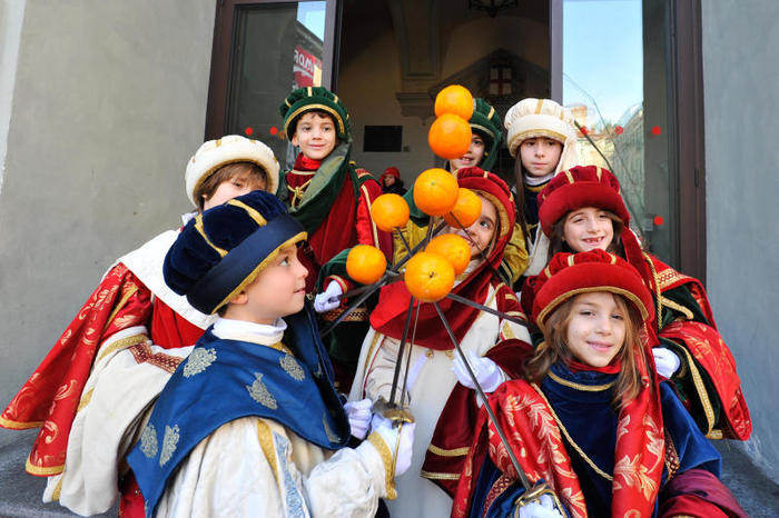 Carnevale Ivrea bambini