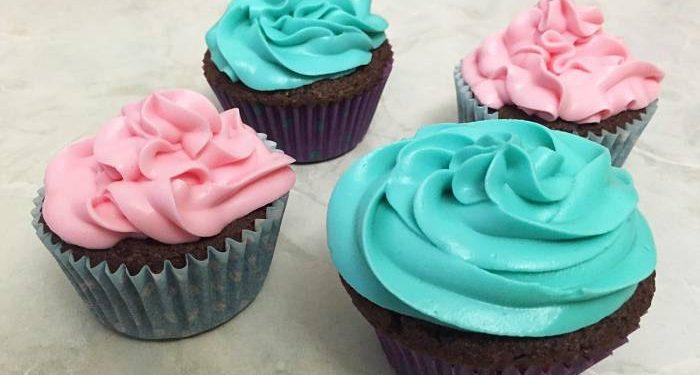 cupcakes rosa e blu