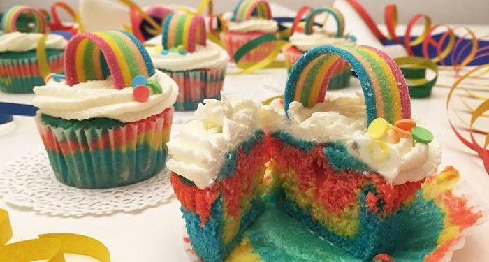 cupcakes arcobaleno