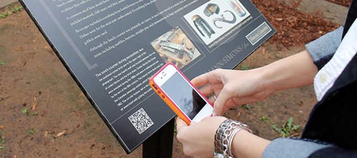 lettura codice qr museo