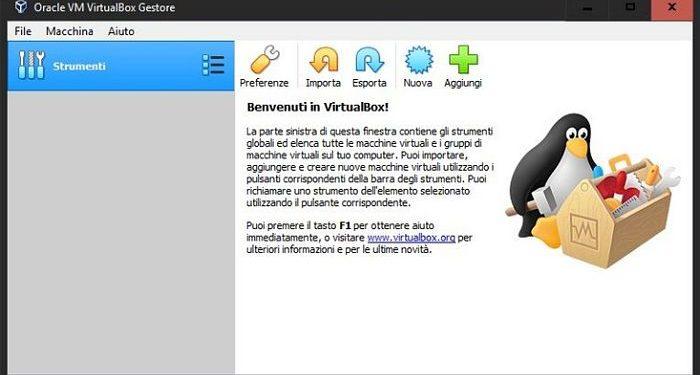 schermata download virtual machine