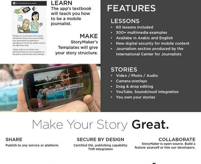 storymaker app features