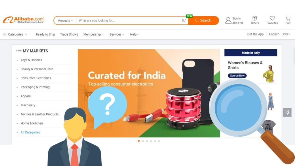 come acquistare prodotti su Alibaba