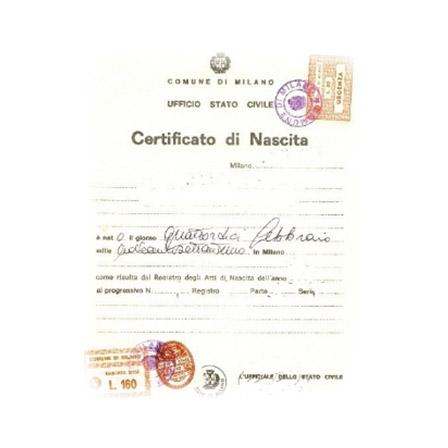 certificato nascita richiesta
