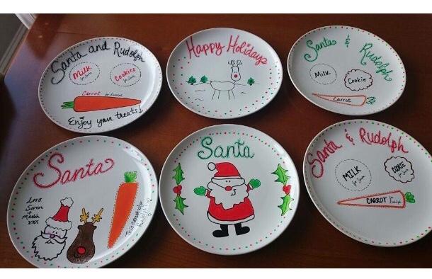 come dipingere un piatto di Natale