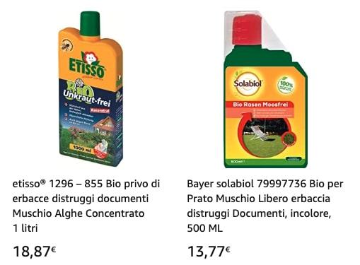 prodotti eliminazione muschio