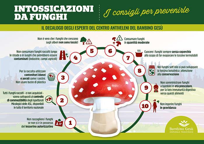 sintomi intossicazione funghi