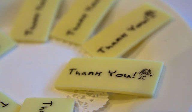 targhette di thank you