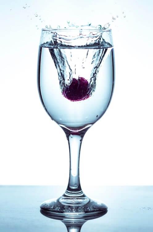 Bicchiere con lampone