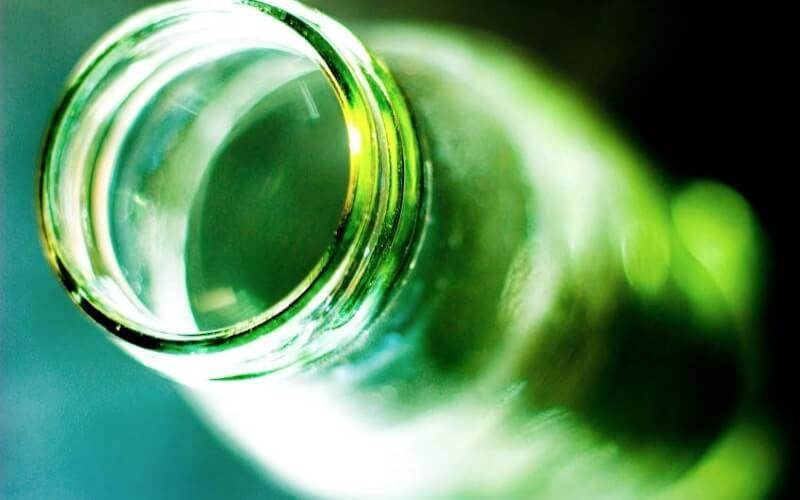 Bottiglia vetro verde