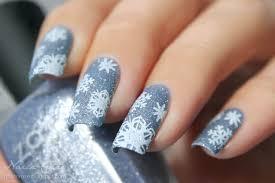 Nail art Natale neve