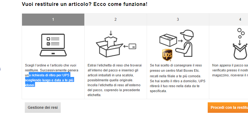 procedura rper fare eso zalando