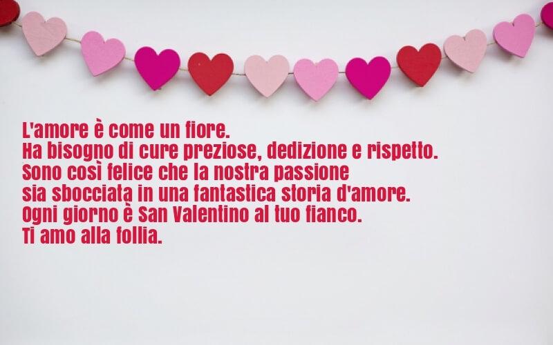 Amore e passione frase san valentino