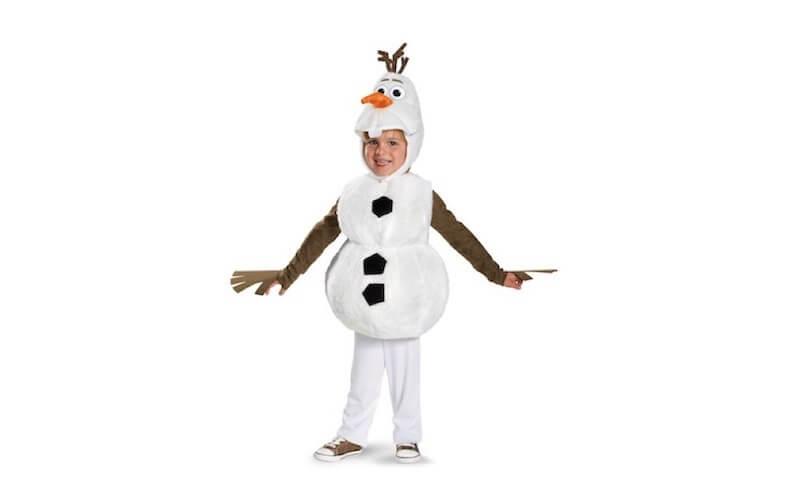 Bambina vestita da Olaf