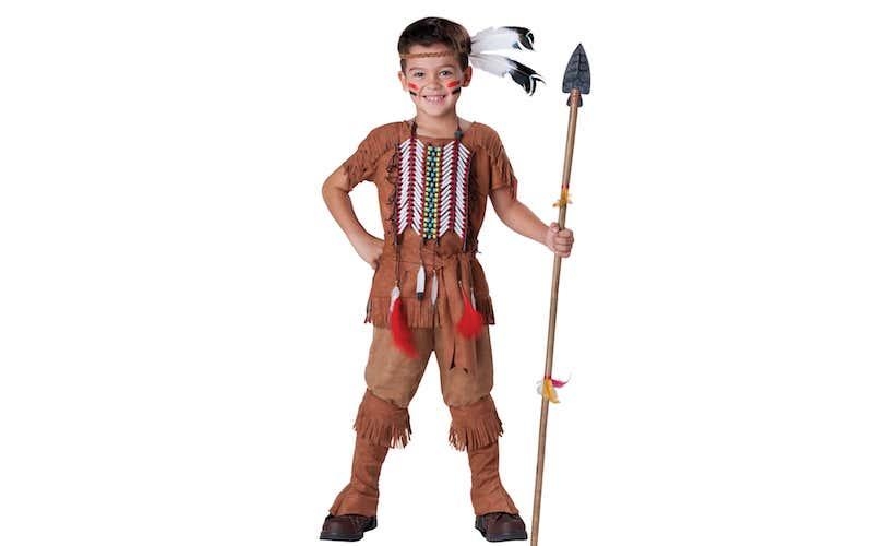 Indiano costume con lancia