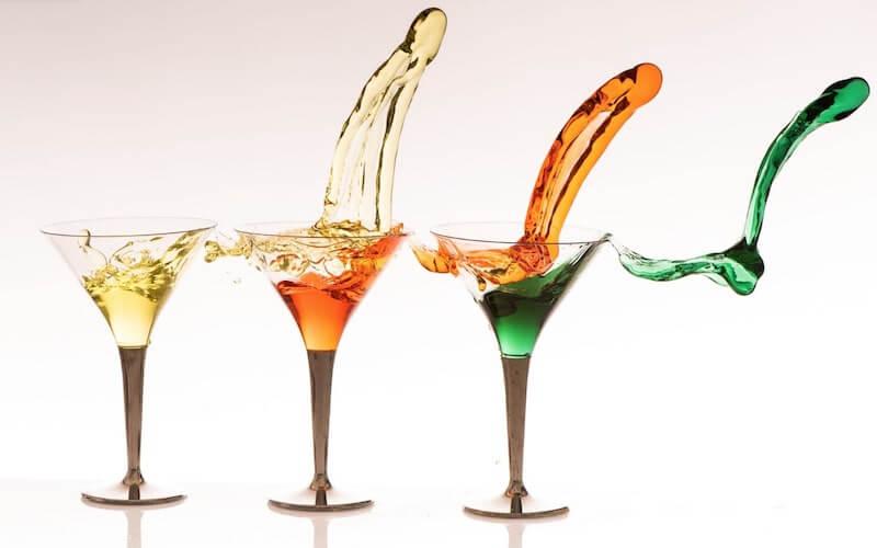 Cocktail e acqua
