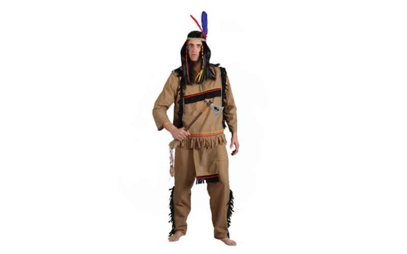 Vestito da indiano copricapo