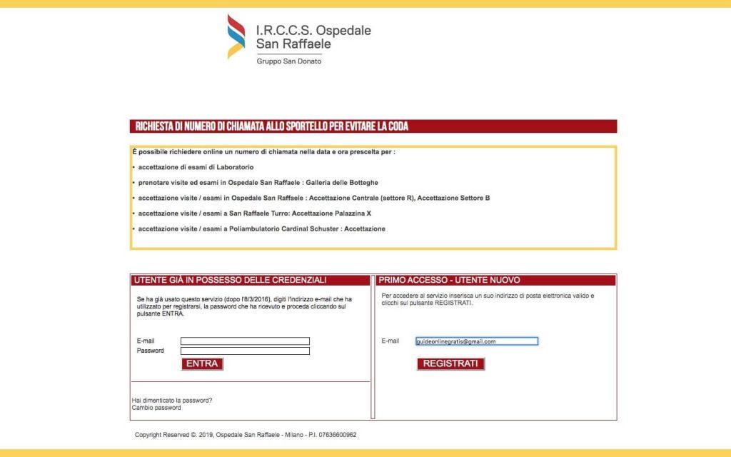 Inserire Mail Personale San Raffaele