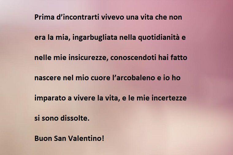 Frase amore buon san valentino
