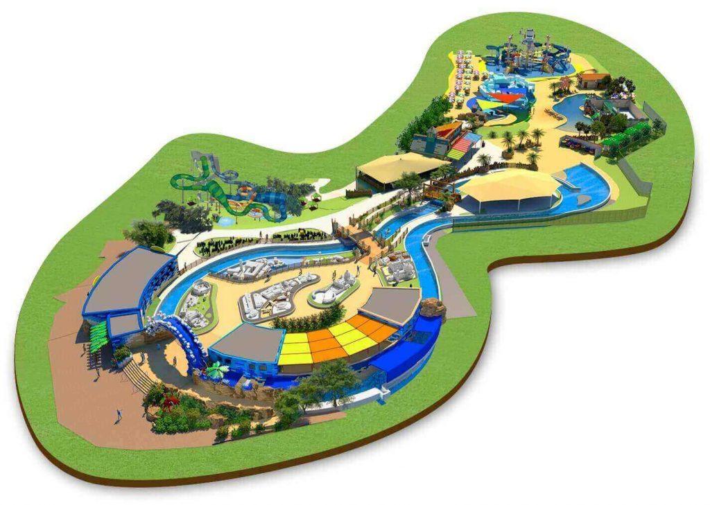 Mappa di Legoland Water Park