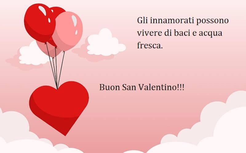 Palloncini rossi cuore auguri san valentino