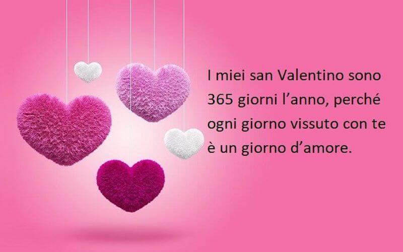 San Valentino tutto l'anno frase d'amore fucsia