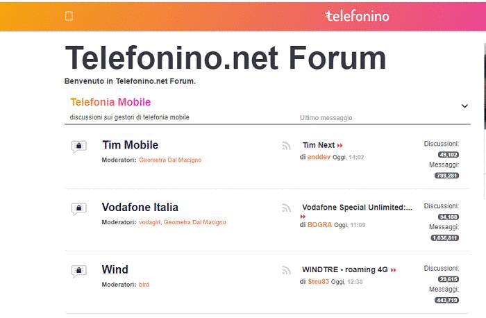 come iscriversi forum telefonino
