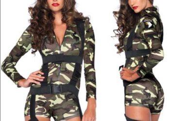 costume soldato sexy