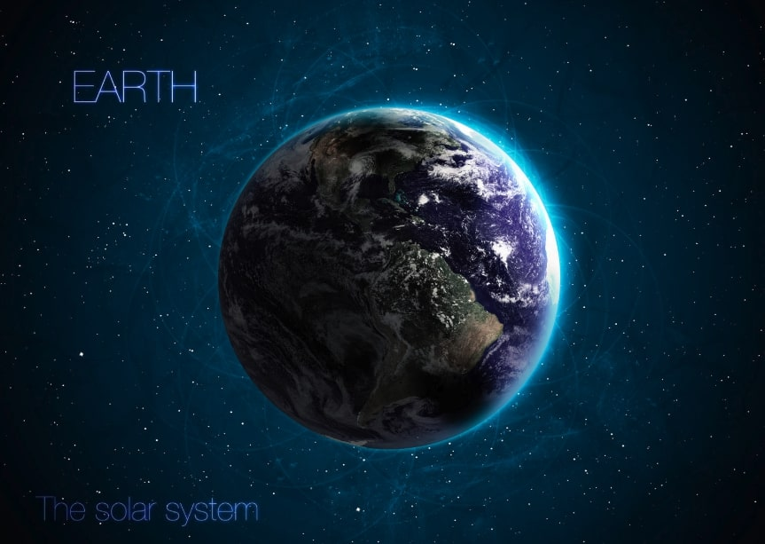 sistema pianeta solare terra