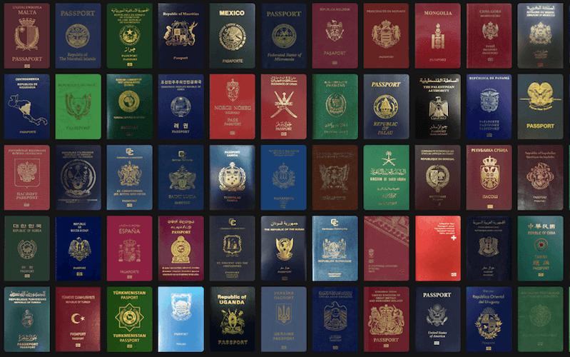 Passaporti colorati