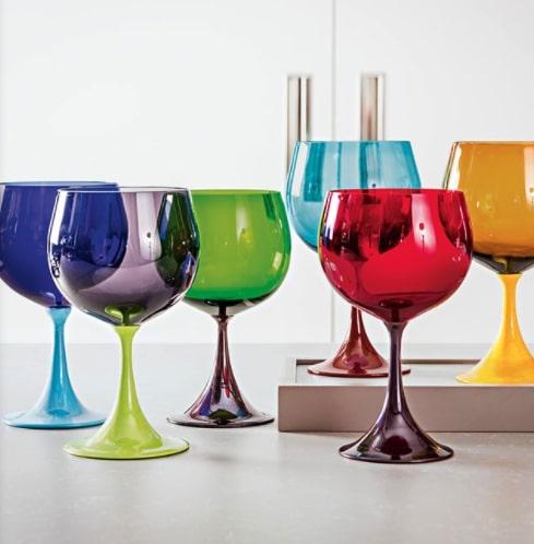6 bicchieri colorati burlesque