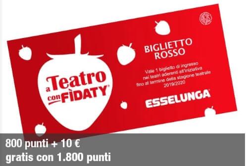 Biglietto Rosso A teatro con fidaty