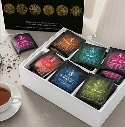 Confezione te e infusi 30 filtri La Via Del Tè