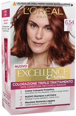 L'Oréal Paris Excellence Creme, Tinta Colorante con Triplo Trattamento Avanzato