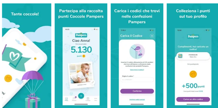 Playstore app Pampers