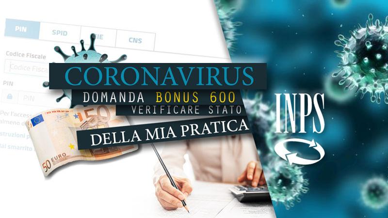 verificare pratica inps 600 euro
