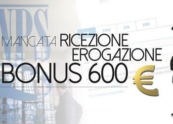 mancata erogazione bonus 600 euro