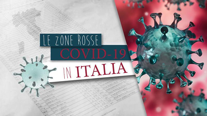 mappa zona rossa italia covid-19
