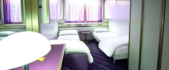 le cabine della Sardinia Ferries
