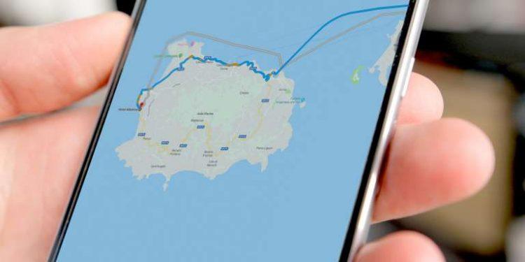 mappa viaggio su smartphone